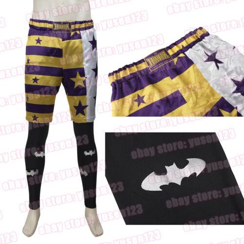 Hot Men Short Pants Jared Leto Joker Costume Halloween Cosplay Shorts Leggings