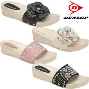 1ce5e73dabb Ladies Low Wedge Heel Comfort Walking Fit Flip Flops Fitness Toning ...