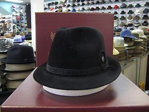 aa68146c8 Details about BILTMORE TYROLEAN BLACK IMPERIAL FUR FELT FEDORA