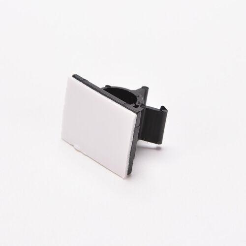 10Pcs Cable Drop Clip Desk Tidy Organizer Wire Cord Management Fixer Holder Wv
