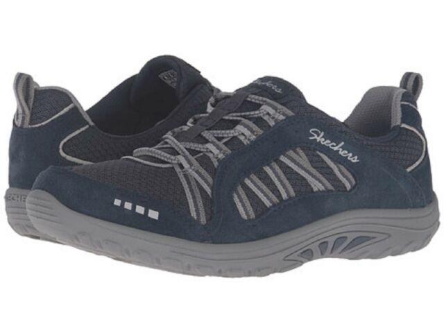 Women s Skechers Relaxed Fit Reggae Fest Epic Adventure Bungee Lace 7 M  Navy gray 5f7ad12f2
