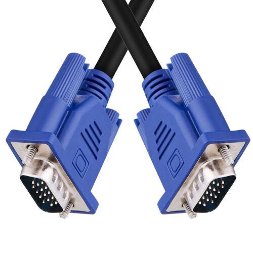 VGA Male to VGA Male Cable VGA Standard 15pin Monitor cable VGA SVGA XGA SXGA