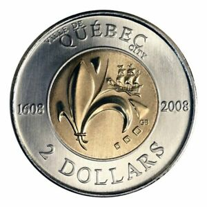 Canada-2-Dollars-Toonie-Coin-Special-400th-Anniversary-of-Quebec-City-2008