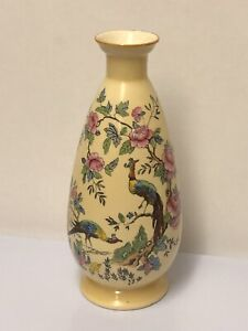 S-F-amp-Co-Crown-Devon-Fieldings-Chelsea-Pattern-Vase-Blush-Ware-c1914