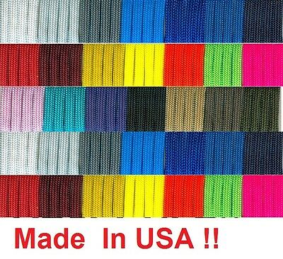 New 550 Paracord Parachute Cord Mil Spec Type III 7 Strand 50 100 Feet Ft USA