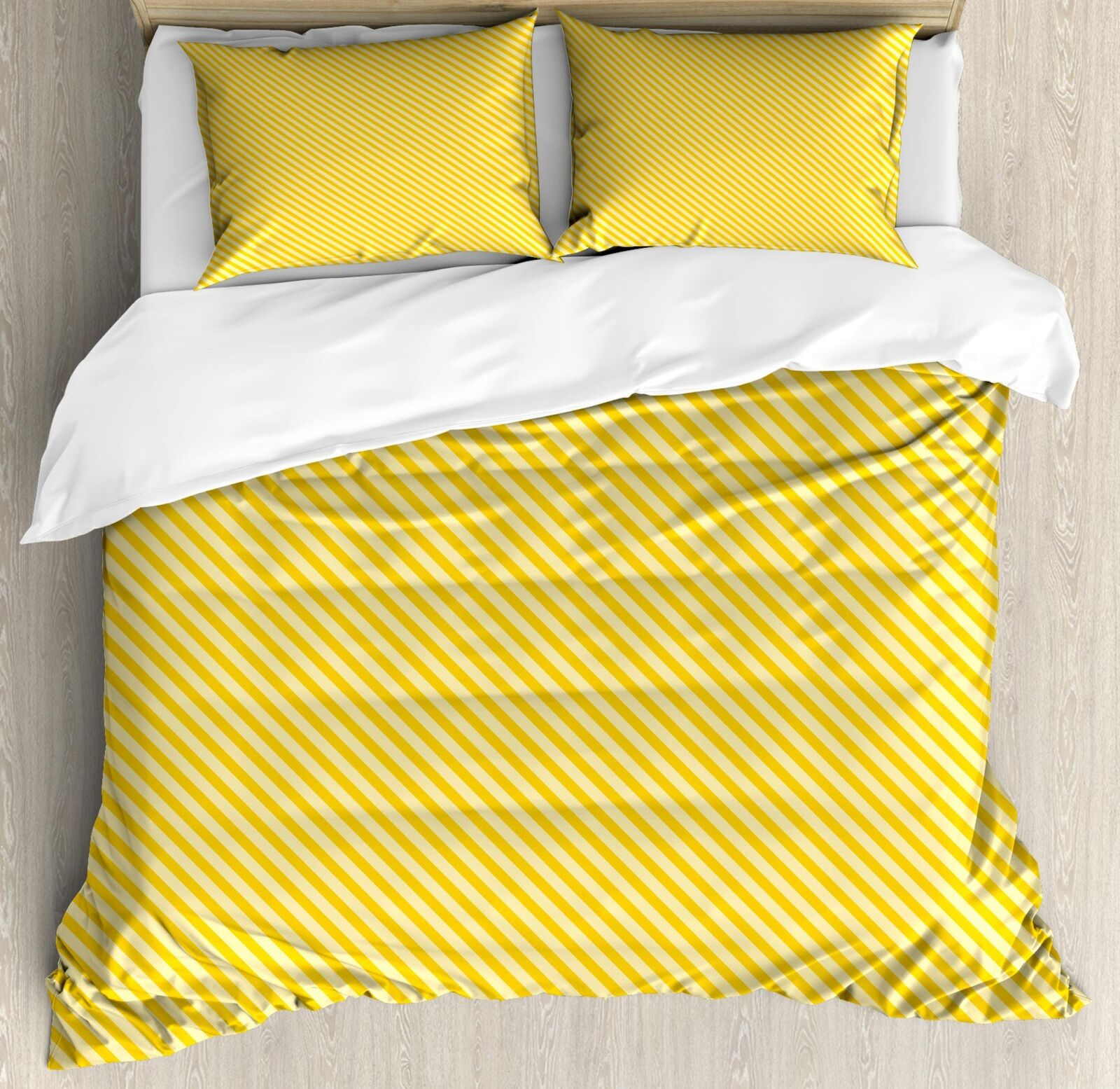 Vintage giallo Duvet Cover Set Twin Queen King Dimensiones with Pillow Shams Bedding