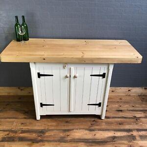 Rustic Solid Pine Freestanding Kitchen Centre Island