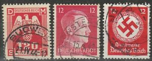 Stamp Selection Germany WWII 3rd Reich Hitler AH Era Official Bohemia Used