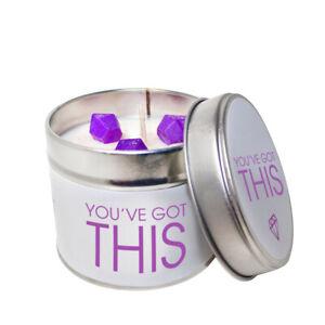 Courageux Vous Avez Ce Soja Wax Candle Tin/choisissez Votre Parfum-afficher Le Titre D'origine