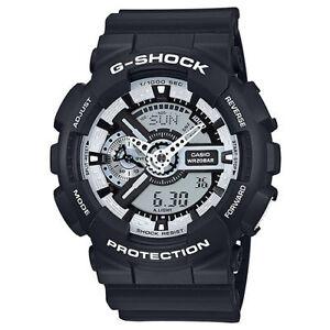 Casio-G-Shock-Mens-Digital-Wrist-Watch-GA110BW-1A-GA-110BW-1ACR-Black-White-New