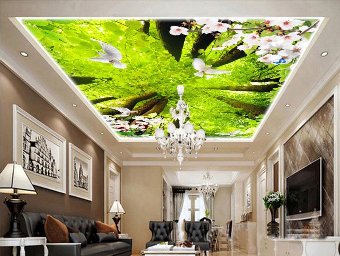 3D Pretty Trees 5 Ceiling WallPaper Murals Wall Print Decal Deco AJ WALLPAPER UK