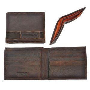 18d2f63d0 Image is loading Mens-Gents-Rustic-Genuine-Buffalo-Leather-Wallet-Purse-