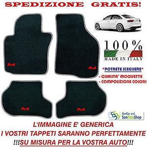 Scegli i Colori e la Qualità! Tappetini Auto Personalizzati Tappeti Audi A4 b8