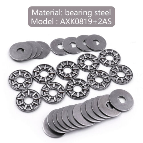 4 size 10pcs AXK Series Axial Needle Roller Thrust Bearings with Two Washers 2mm