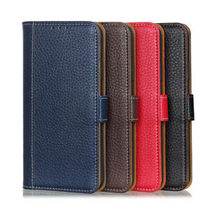 Litchi Wallet Leather Flip Case Cover For Motorola Moto G9 Play G10 G30 G50 G60