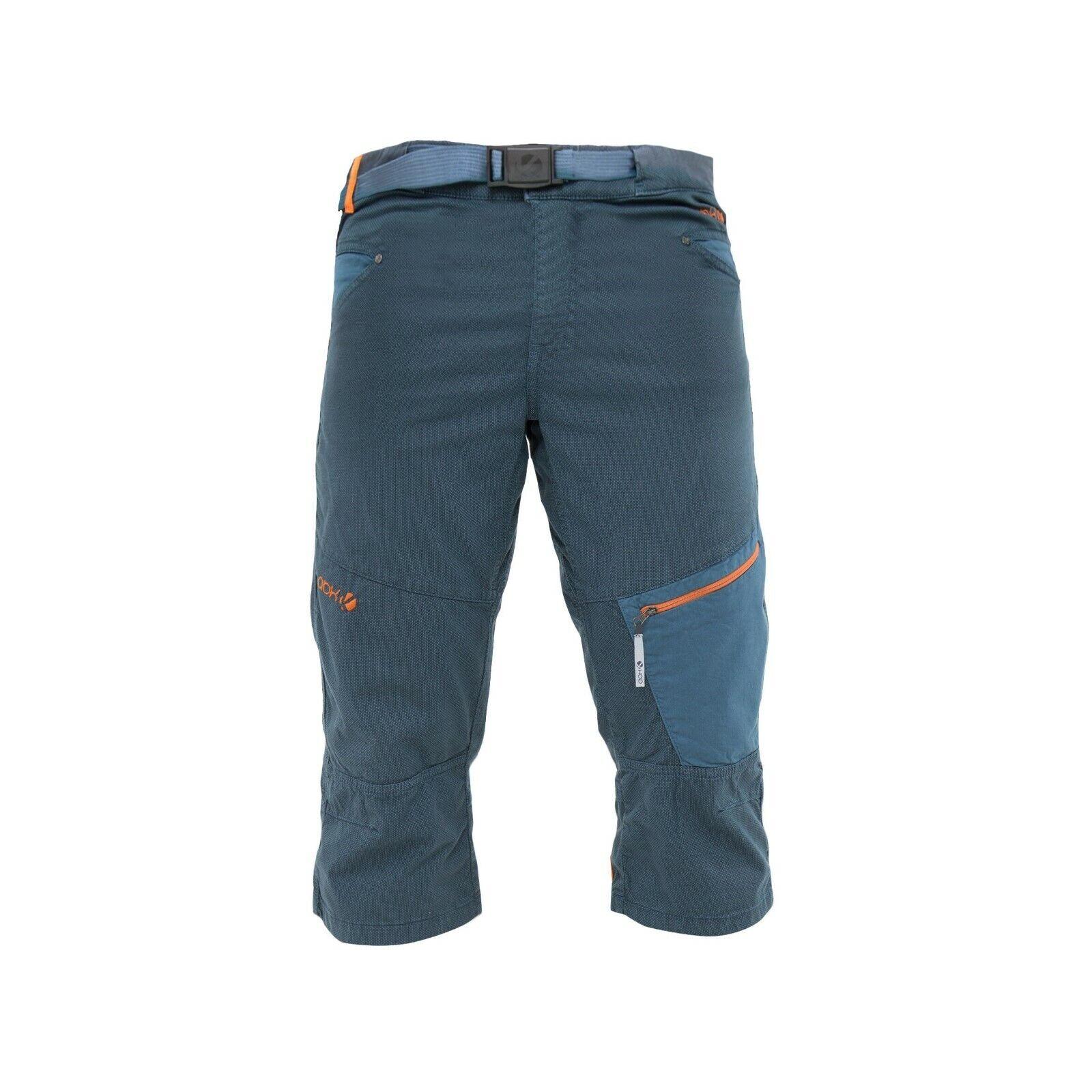 Abk Acantilado Cuartos Pantalones Hombre para Escalar en 3 4 Longitud azul gris