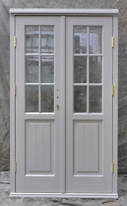 Hardwood timber georgian french doors made to measure for Hardwood french doors