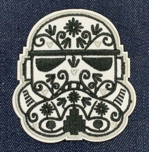 Star Wars Storm Trooper Calavera Casque Iron on Embroidered Patch livraison gratuite
