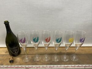 Dom-Perignon-Rare-Limited-Edition-Andy-Warhol-Champagne-Glasses-Flutes-Set-Of-6
