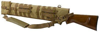 Deluxe MOLLE Shoulder Sling Shotgun Rifle Tactical Scabbard Case TAN CVSCB2917T