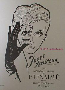 PUBLICITE-PARFUM-BIENAIME-JOURS-HEUREUX-HAPPY-DAYS-DE-1949-FRENCH-AD-PUB-ADVERT