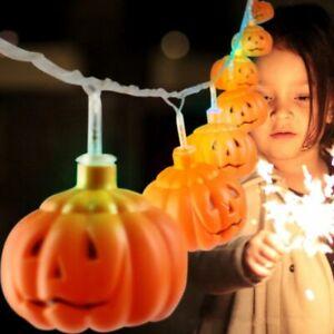 16-LED-Pumpkin-Fairy-Lights-Lantern-Holiday-Party-Home-Halloween-Decoration
