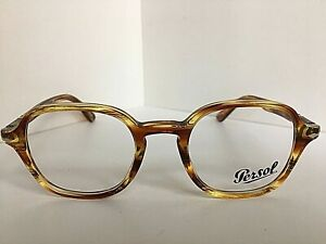 7cd14b4d89 New Persol 3142-V 1050 47mm Rx Square Yellow Vintage Eyeglasses ...