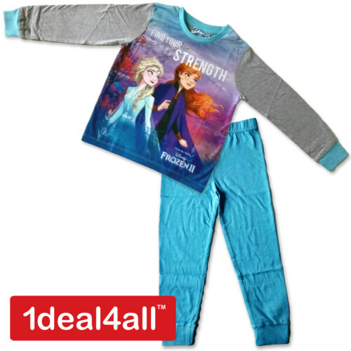 Disney Frozen 2 Girls Pyjamas Set Kids Cotton PJs Jim Jams Sizes 3-10 Years