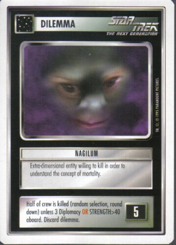 STAR TREK CCG WHITE BORDER PREMIERE 1995 BETA RARE CARD NAGILUM