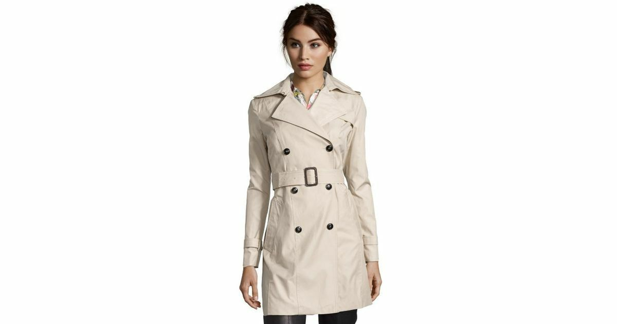 Cole Haan Womens Classic Belted Trench Coat