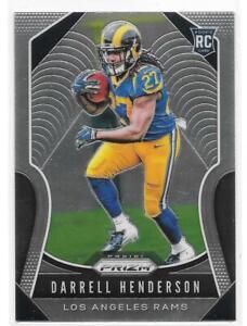 Darrell Henderson Rookie Card 2019 Prizm #330 Los Angeles Rams RC