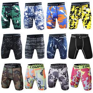 Men-Compression-Workout-Shorts-Gym-Fitness-Trunks-Stretchy-Camo-Sports-Underwear