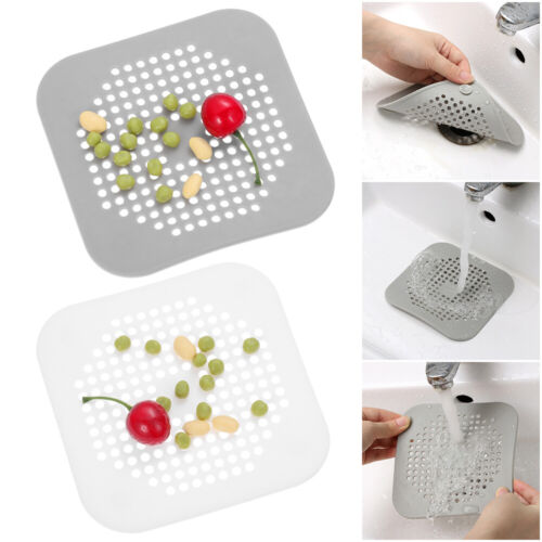 New Silicone Sewer Stopper Drains Cover Sink Strainer Hair Filter Colander