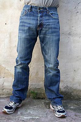 LEVIS 505 DENIM JEANS STRAIGHT LEG FADED Flared  W32 L32 BLUE RED TAB Cool