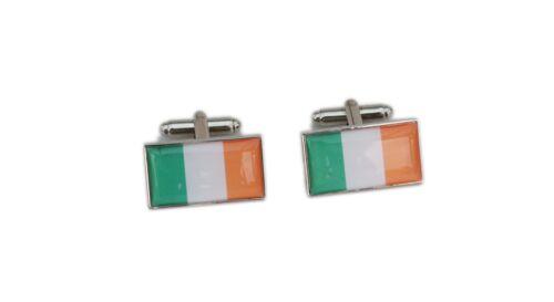 Ireland Flag Cufflinks with free organza pouch