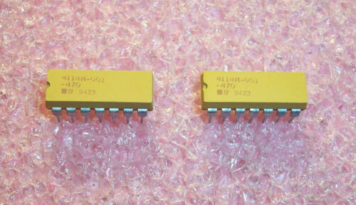 QTY 25 4116R-001-470 BOURNS 16 PIN DIP 47 Ohm ISOLATED RESISTOR NETWORK NOS