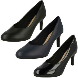 cd75966e9d973 Image is loading Ladies-Clarks-Smart-Elegant-Slip-On-Leather-Heeled-