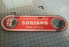 Alfa romeo 2x soriano milano vintage dealer window sticker internal sticking
