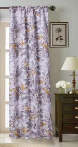 CHIC FASHION NATURAL PRINTED WINDOW BLACKOUT 1PC PANEL STYLE #12 MULTICOLOR