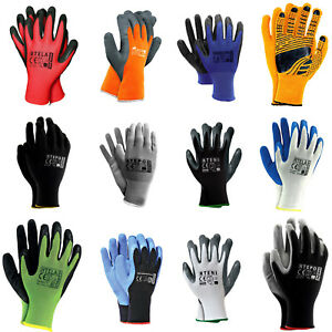 Arbeitshandschuhe-Gartenhandschuhe-Handschuhe-Latex-PU-Nitryl-Gr-7-8-9-10
