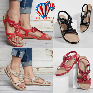 5466f0744603 Image is loading Lady-Womens-Gladiator-Sandals-Summer-Holiday-Flat-Beach-