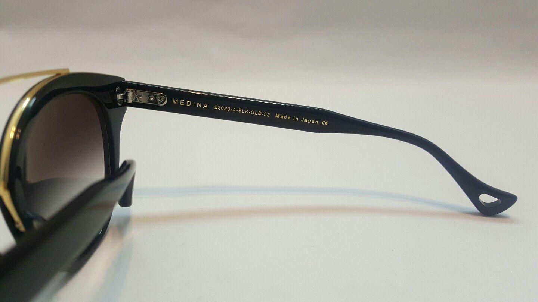 8dc0a5c5cb0 DITA Medina 22023-a-blk-gld-52 Gloss Black 18k Gold Flash Mirrored Lens  Japan for sale online