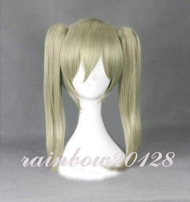 Soul Eater Maka Albarn Cosplay Wig Woman Halloween Silver Hair