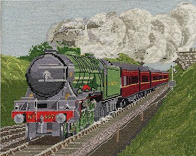 Aveling /& Porter Steam Roller counted cross stitch kit//chart 14s aida
