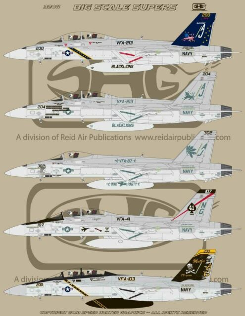 Speed Hunter Graphics 1/32 decal F-18E and F Super Hornet Big Scale Supers 32011