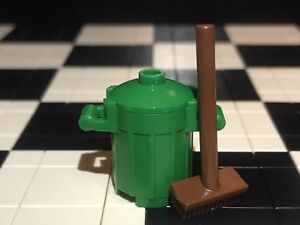 Utensil Accessories Lego Green Bin With Broom Minifigure Not Included.