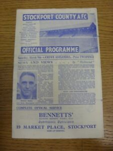 09-03-1946-Stockport-County-v-Crewe-Alexandra-Division-3-North-West-Cup-Any