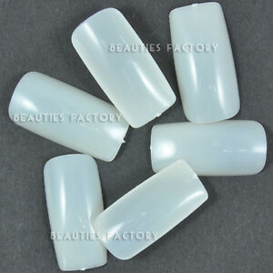 500-x-Natural-False-Full-Nails-UV-Gel-Nail-Tip-Acrylic-15