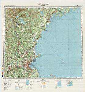 Russian Soviet Military Topographic Maps - RHODE ISLAND (USA),1:500 ...