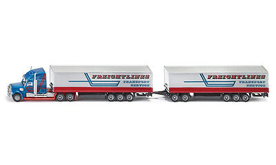 NEW SUPER SIKU 1806 Road Train Truck & Two Trailers 1:87 Die-Cast Model Vehicle